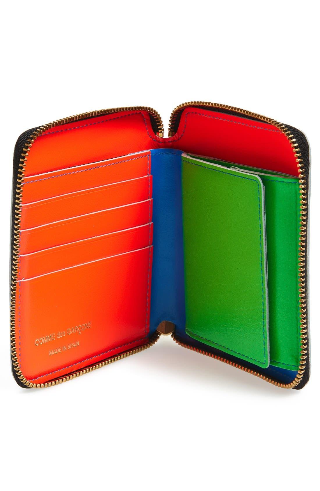 Alternate Image 2  - Comme des Garçons 'Super Fluo' French Wallet