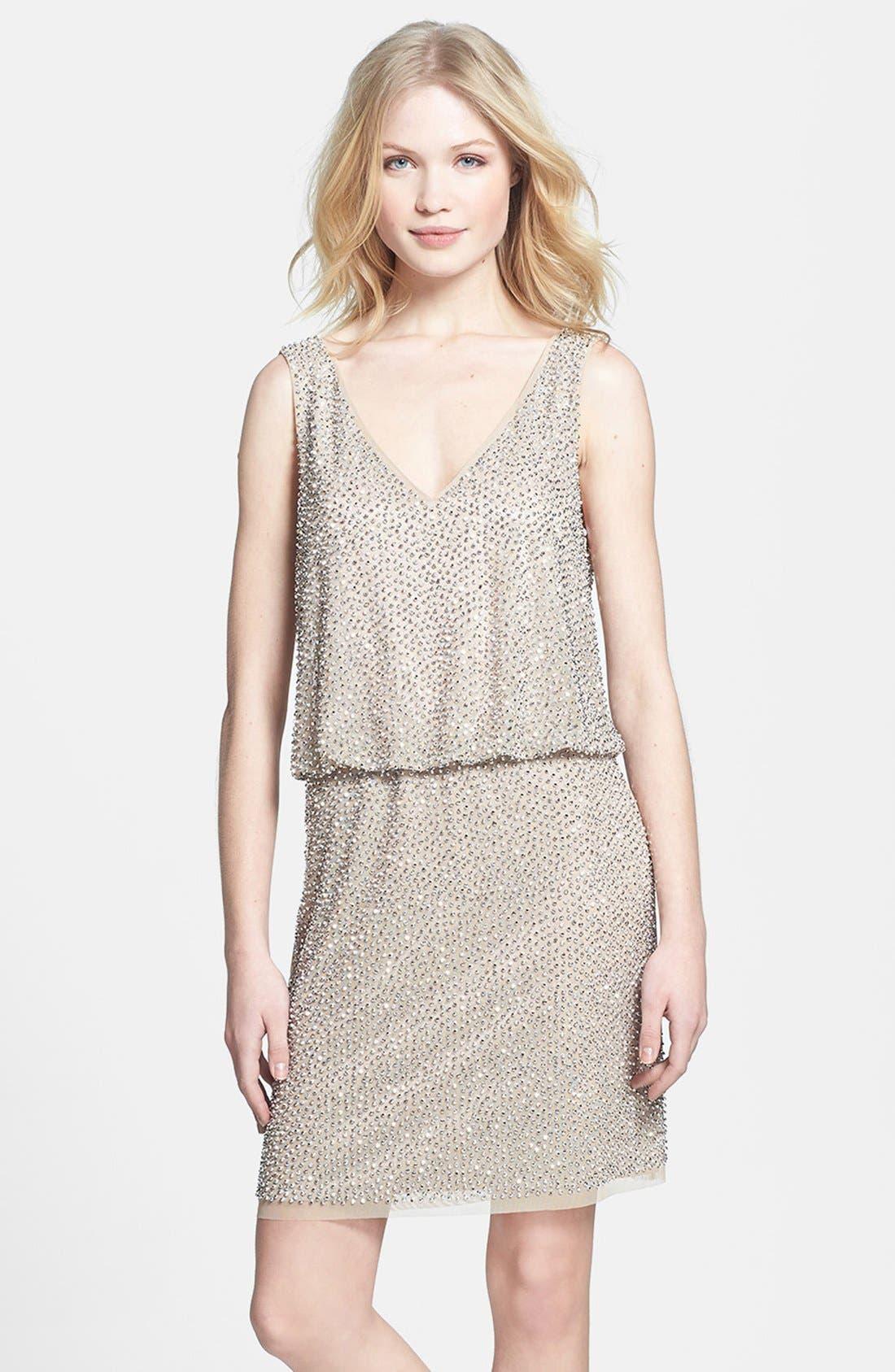 Main Image - Xscape Beaded Blouson Dress