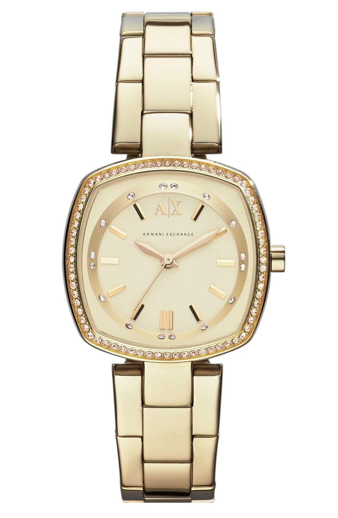 Alternate Image 1 Selected - AX Armani Exchange Square Bracelet Watch, 30mm