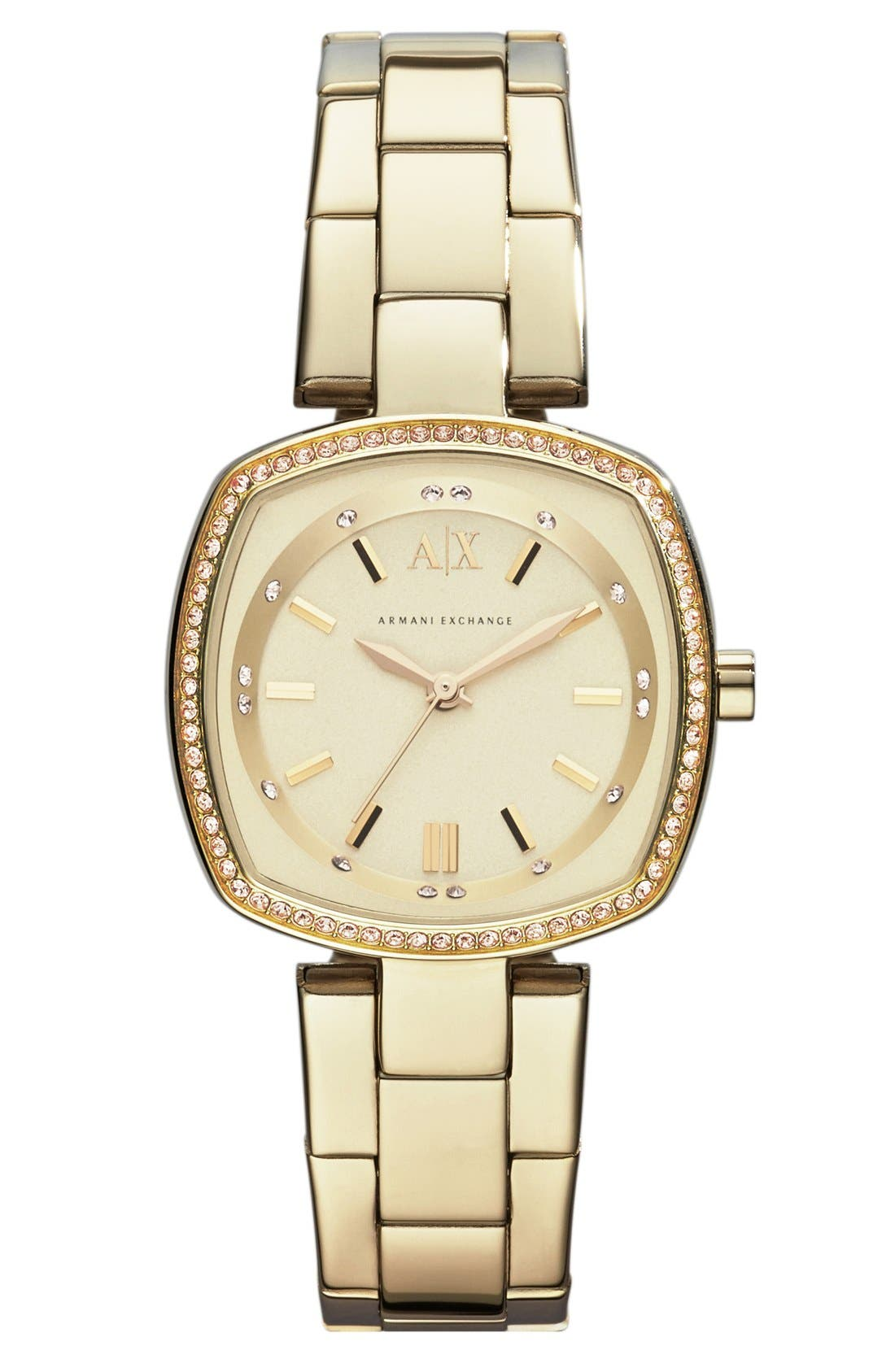 Main Image - AX Armani Exchange Square Bracelet Watch, 30mm