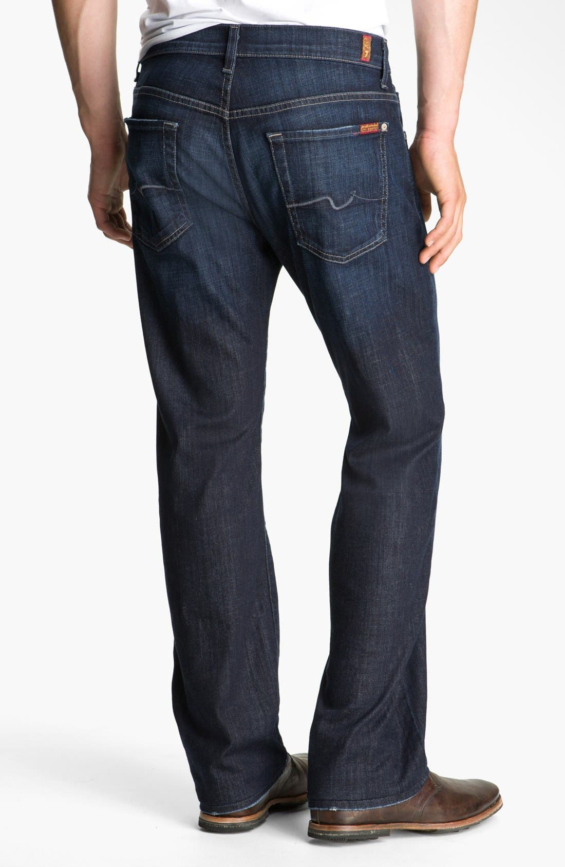 Alternate Image 2  - 7 For All Mankind® 'Austyn' Relaxed Straight Leg Jeans (Los Angeles Dark) (Tall)