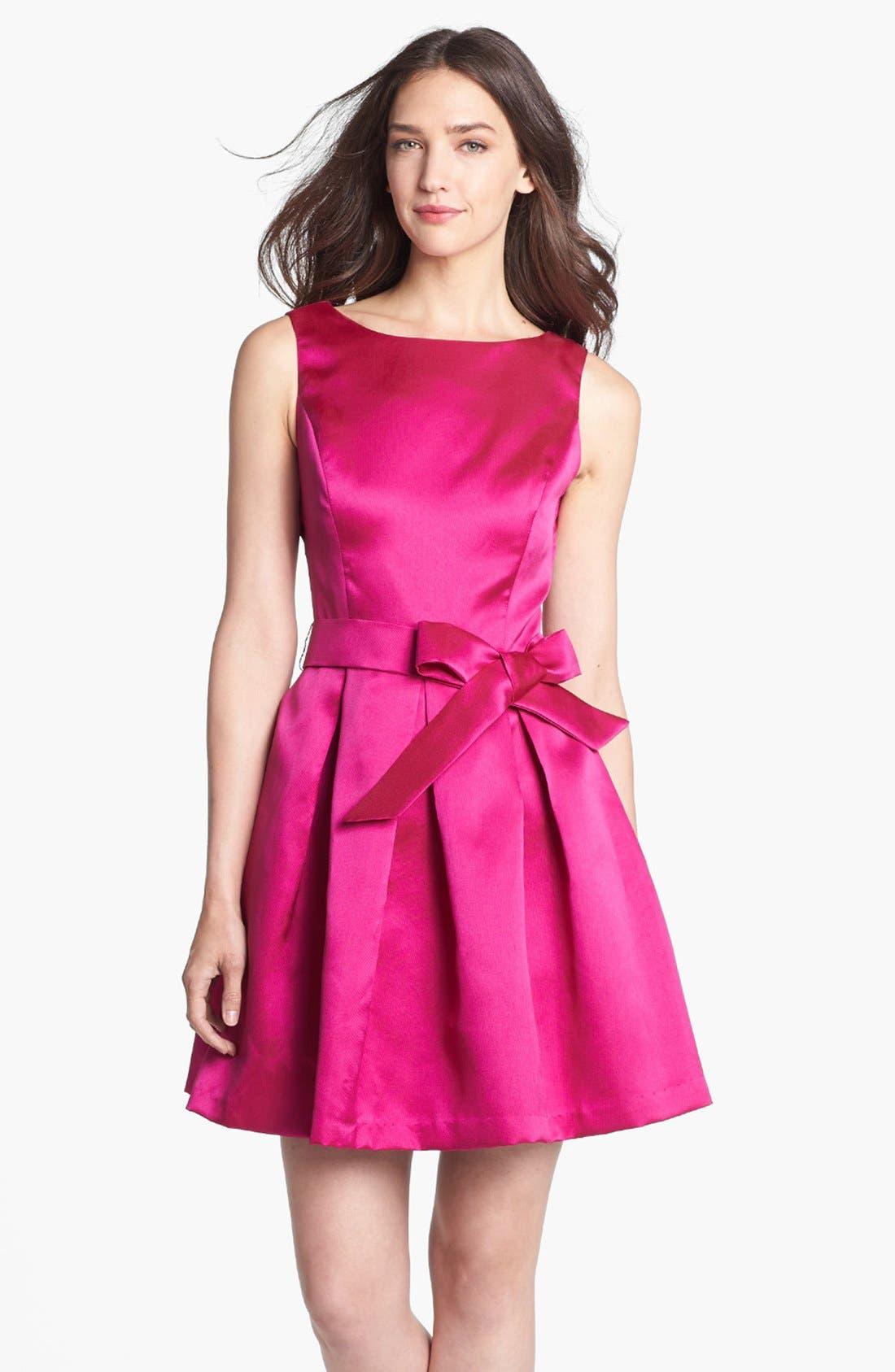Alternate Image 1 Selected - Isaac Mizrahi New York Mikado Fit & Flare Dress