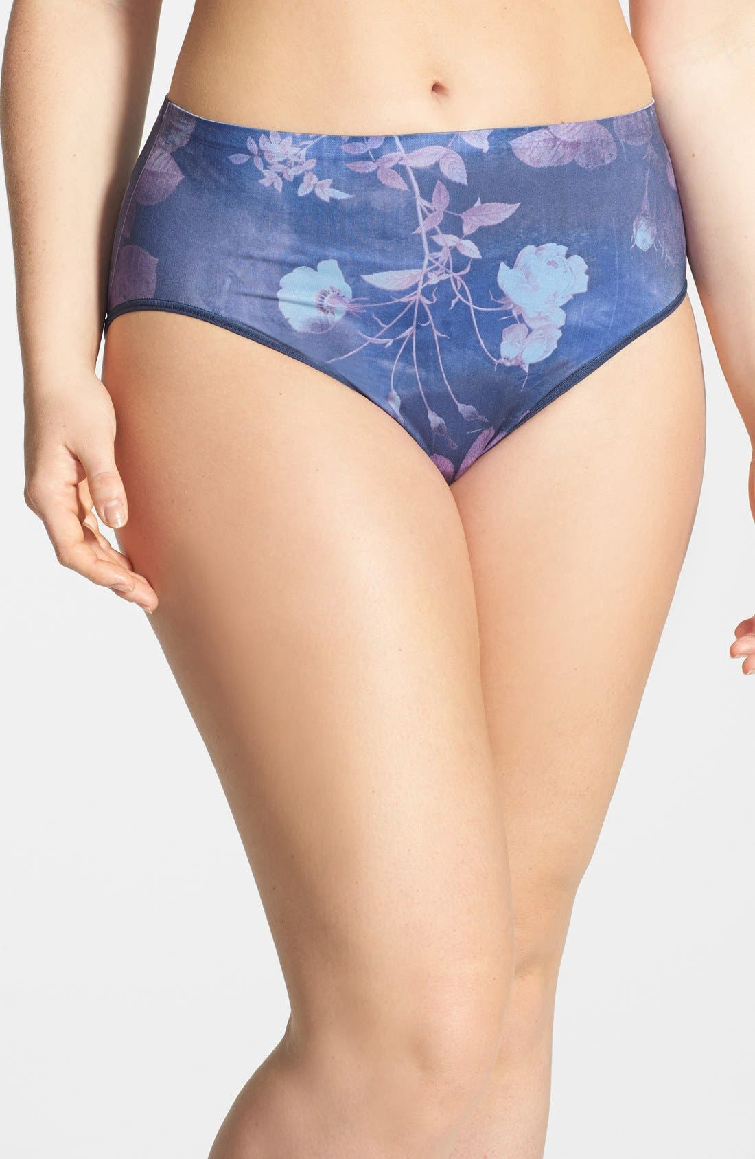 Main Image - Shimera Print Seamless Full Cut Briefs (Plus Size) (3 for $30)