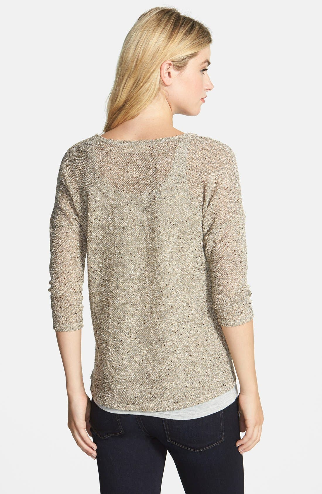 Alternate Image 2  - Two by Vince Camuto Lurex® Speckled Top