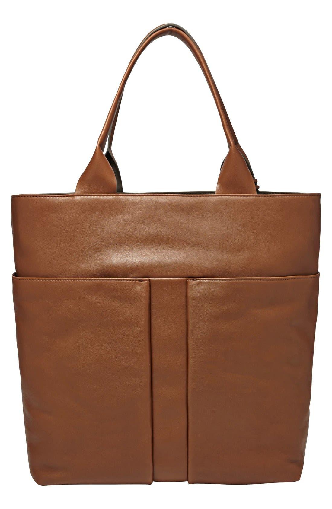 Main Image - Skagen 'Mathilde' Leather Tote