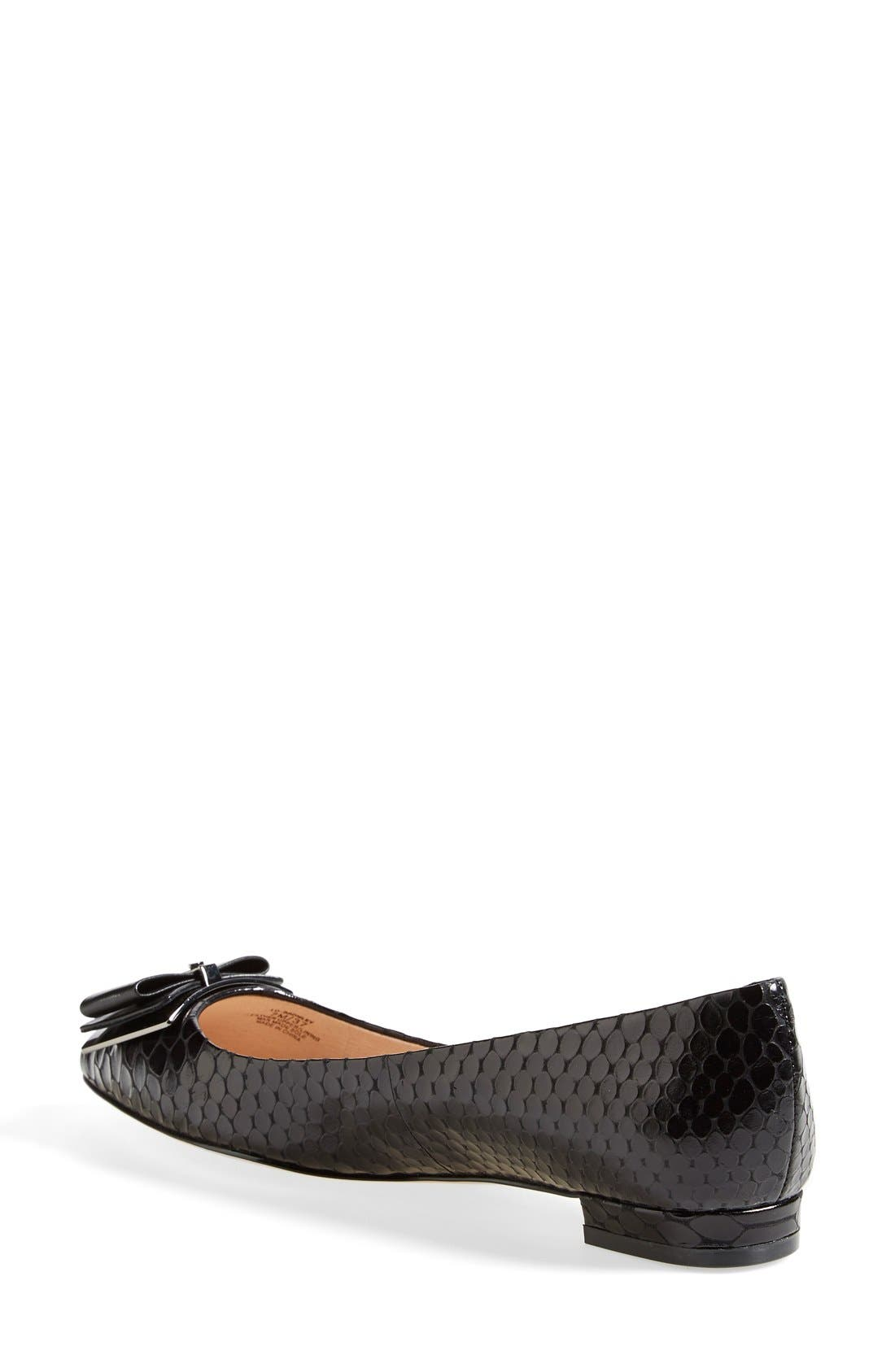 Alternate Image 2  - Louise et Cie 'Bromley' Genuine Snakeskin Flat (Women)