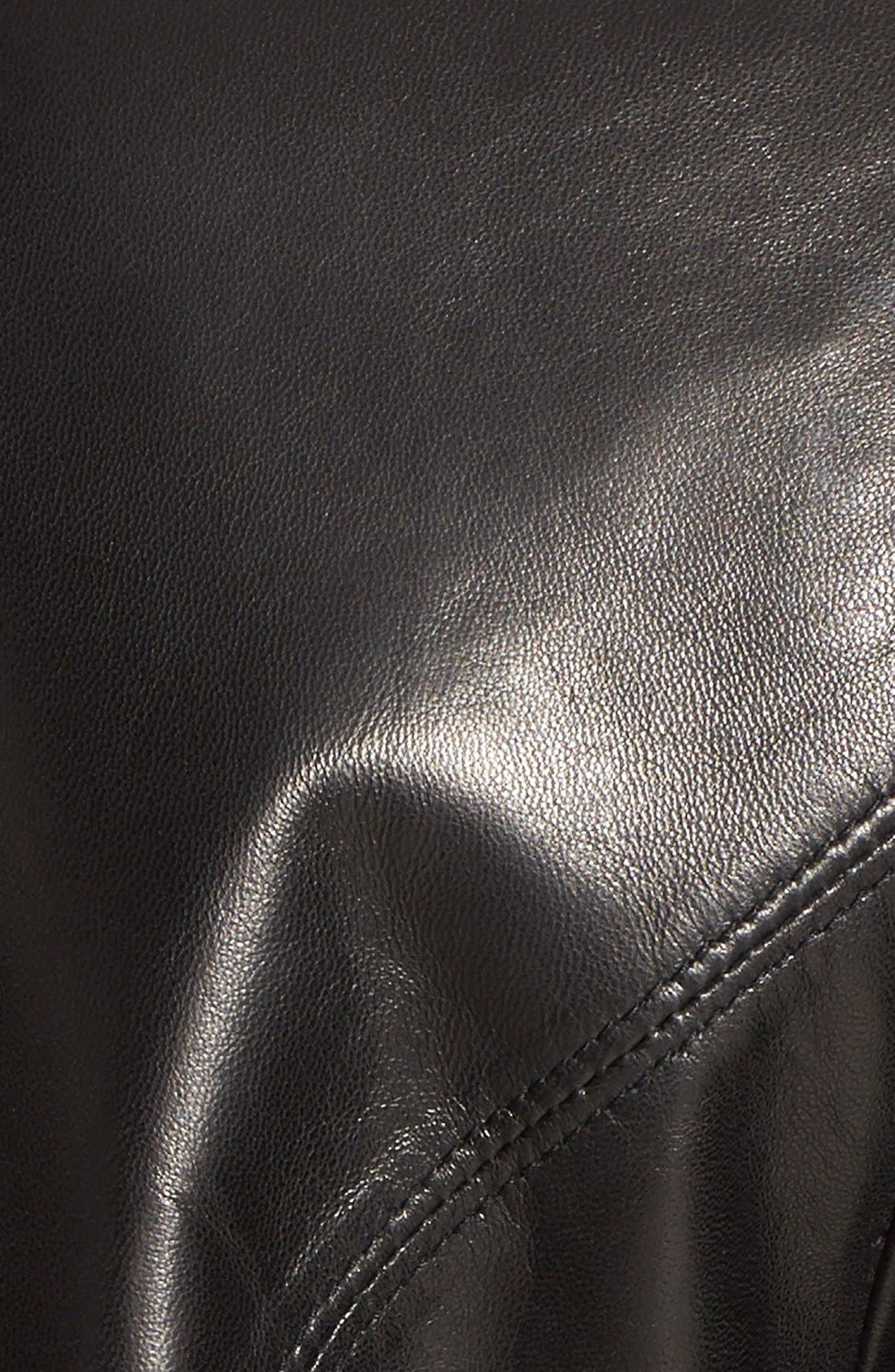 Alternate Image 3  - Ellen Tracy A-Line Lambskin Leather Jacket