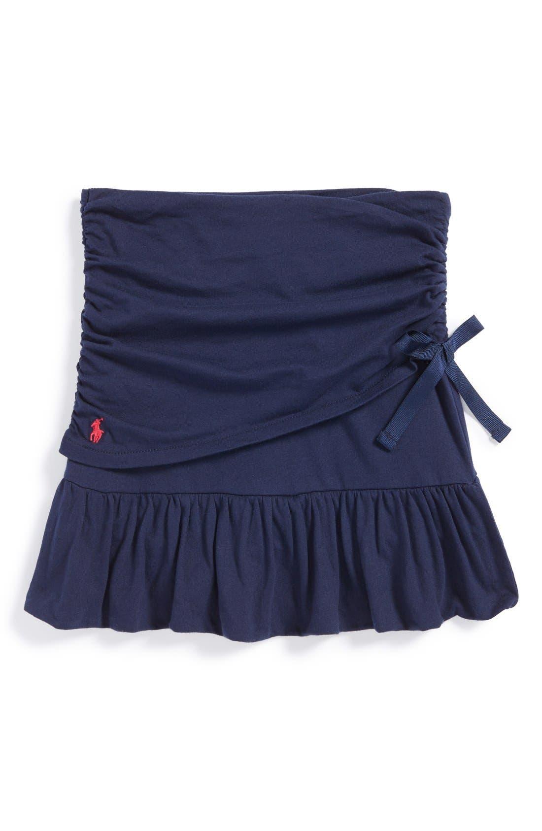 Alternate Image 1 Selected - Ralph Lauren Ruched Skirt (Toddler Girls & Little Girls)