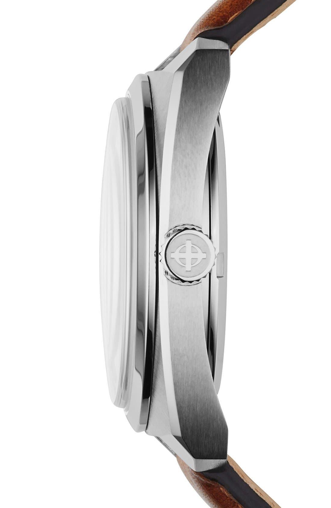 Alternate Image 3  - Zodiac 'Sea Dragon' Automatic Leather Strap Watch, 39mm