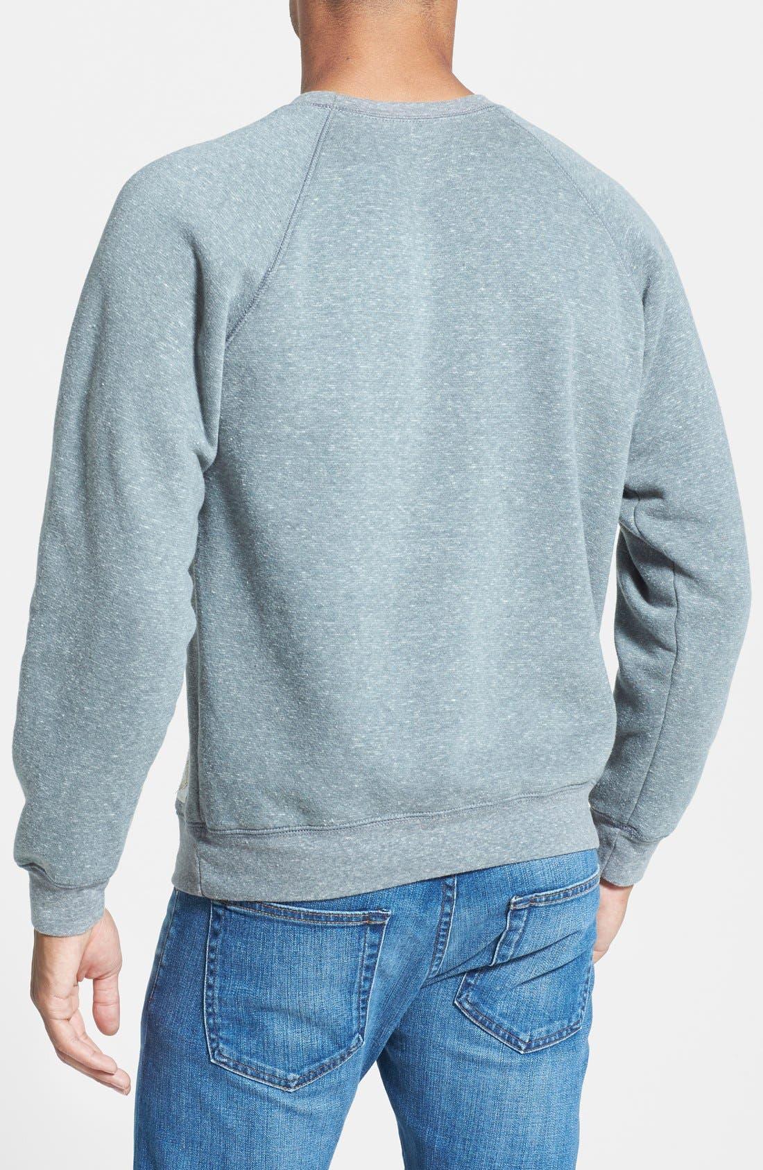 Alternate Image 2  - Retro Brand 'Michigan State Spartans Football' Slim Fit Raglan Crewneck Sweatshirt