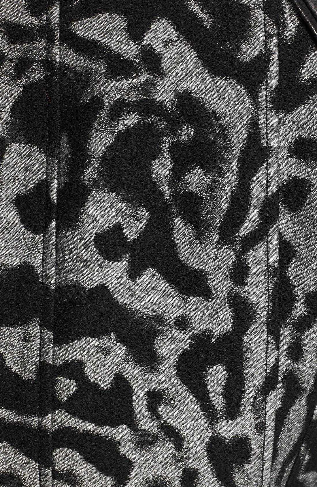 Alternate Image 3  - Diane von Furstenberg 'Theodora Leo' Leather Accent Jacket