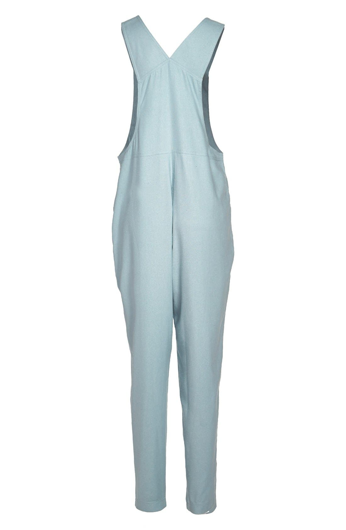 Alternate Image 2  - Dusen Dusen Long Silk Overalls