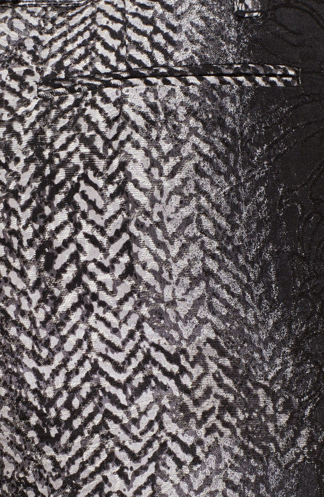 Alternate Image 3  - Tracy Reese Herringbone Print Lamé Trousers