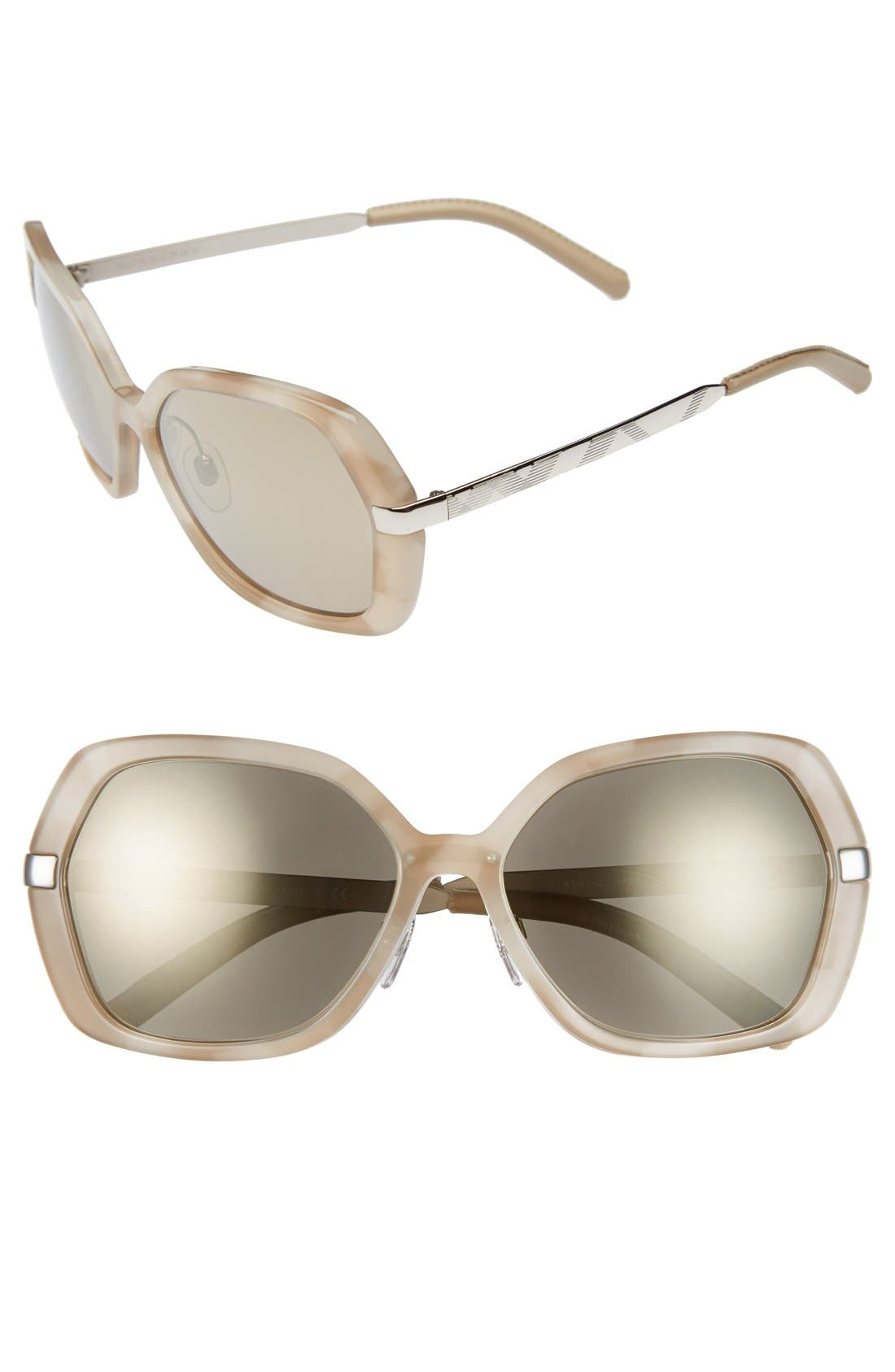 Alternate Image 1 Selected - Burberry 'Classic' 58mm Sunglasses