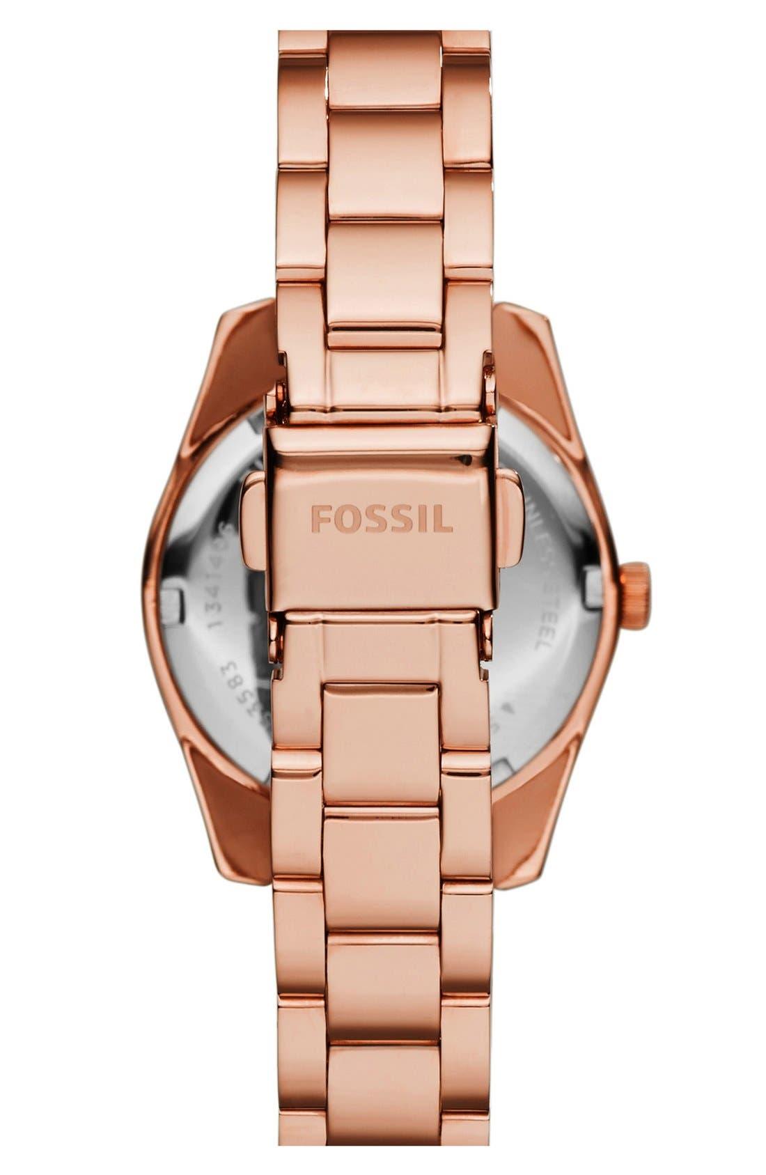Alternate Image 2  - Fossil 'Perfect Boyfriend' Round Bracelet Watch, 28mm