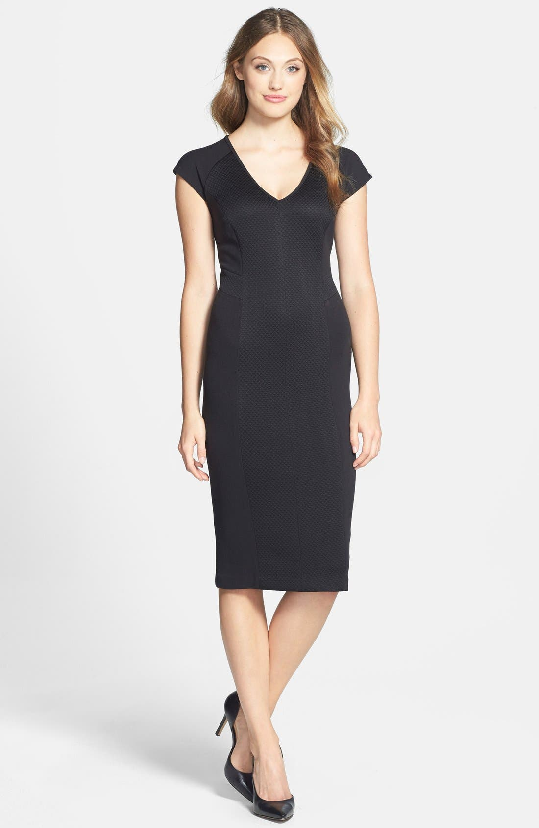Main Image - Marc New York by Andrew Marc Knit Midi Dress (Regular & Petite)