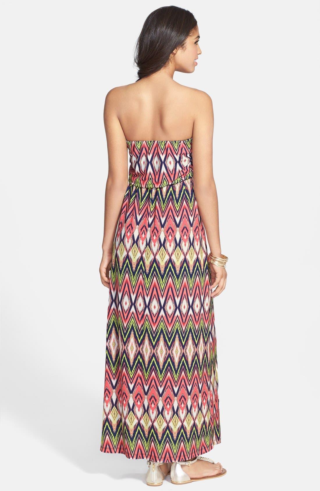 Alternate Image 2  - Trixxi Tube Maxi Dress (Juniors)