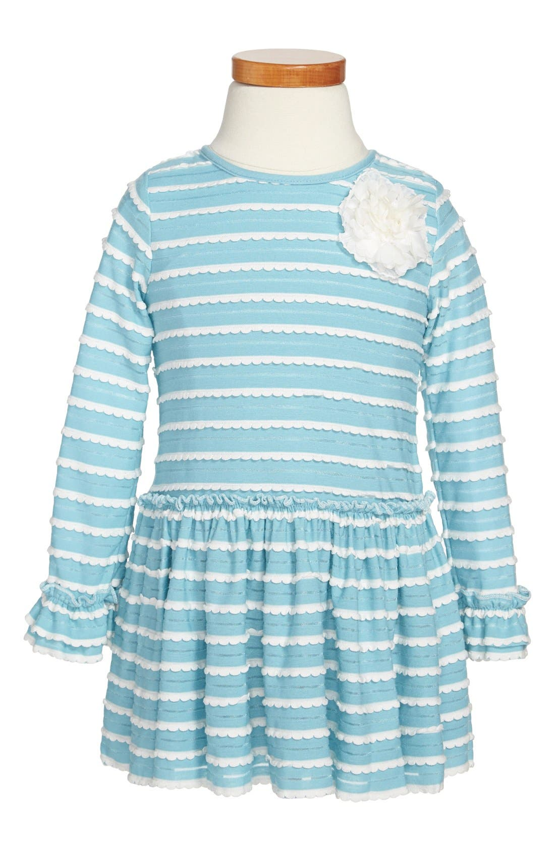 Alternate Image 1 Selected - Pippa & Julie Scallop Knit Dress (Toddler Girls & Little Girls)