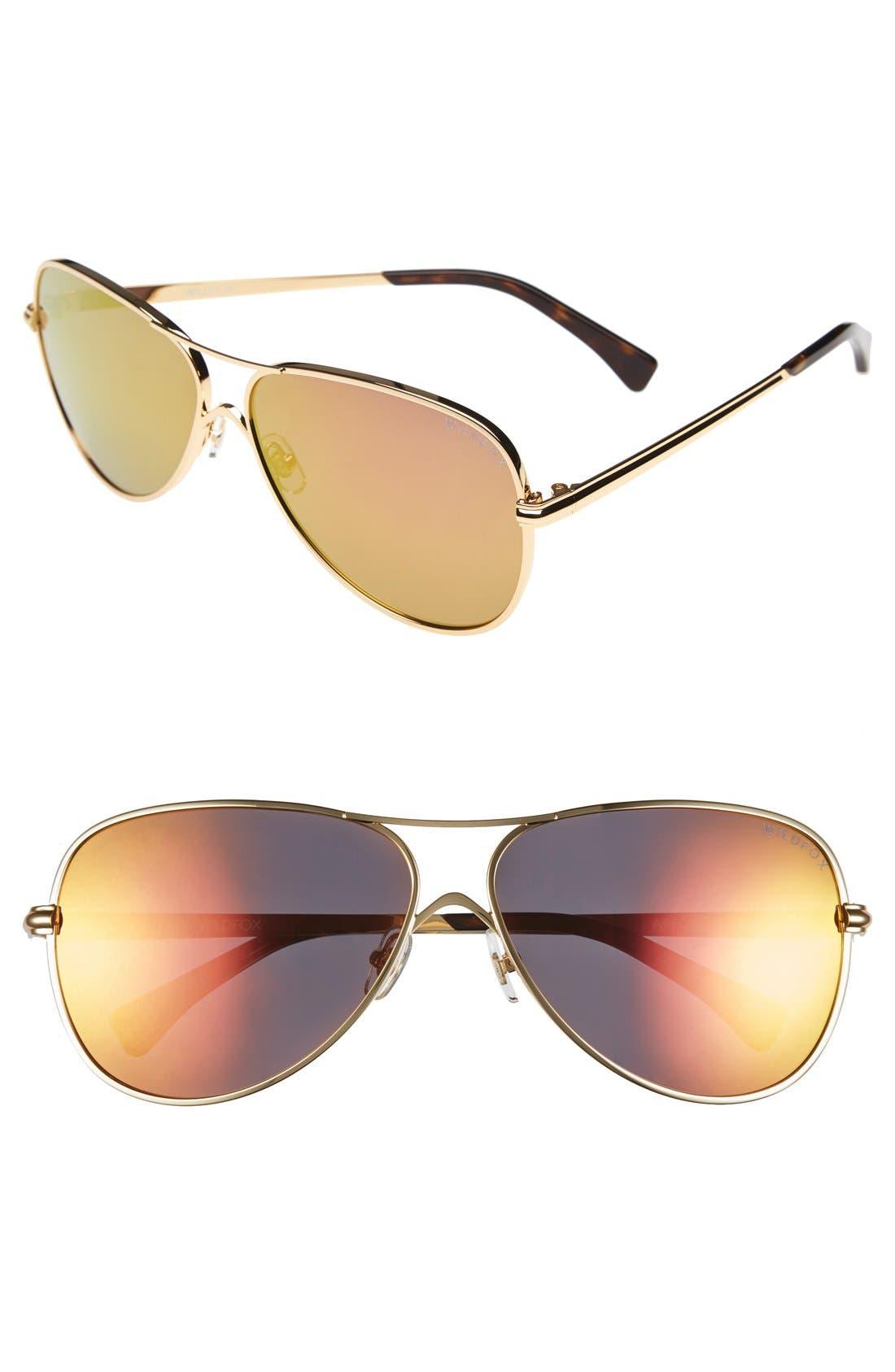 Main Image - Wildfox 'Airfox' 62mm Aviator Sunglasses