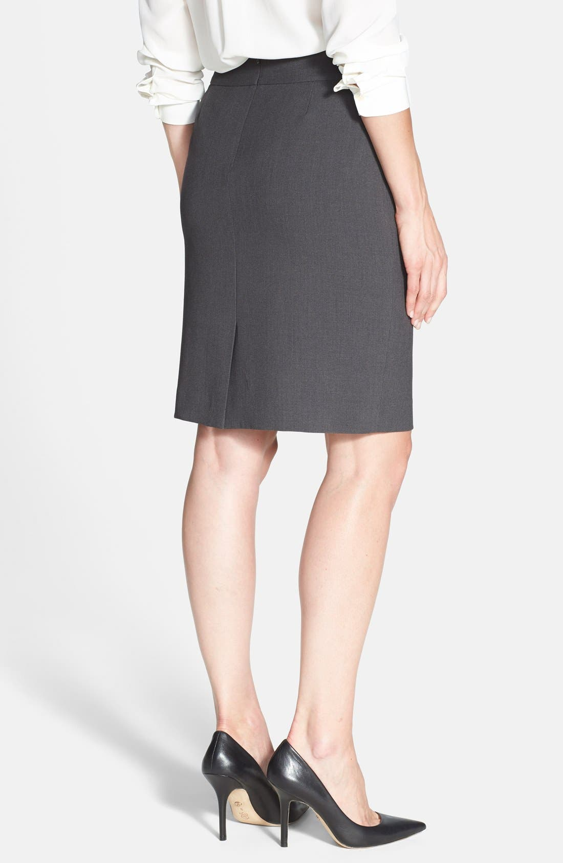 Alternate Image 2  - Anne Klein Yoke Seamed Pencil Skirt