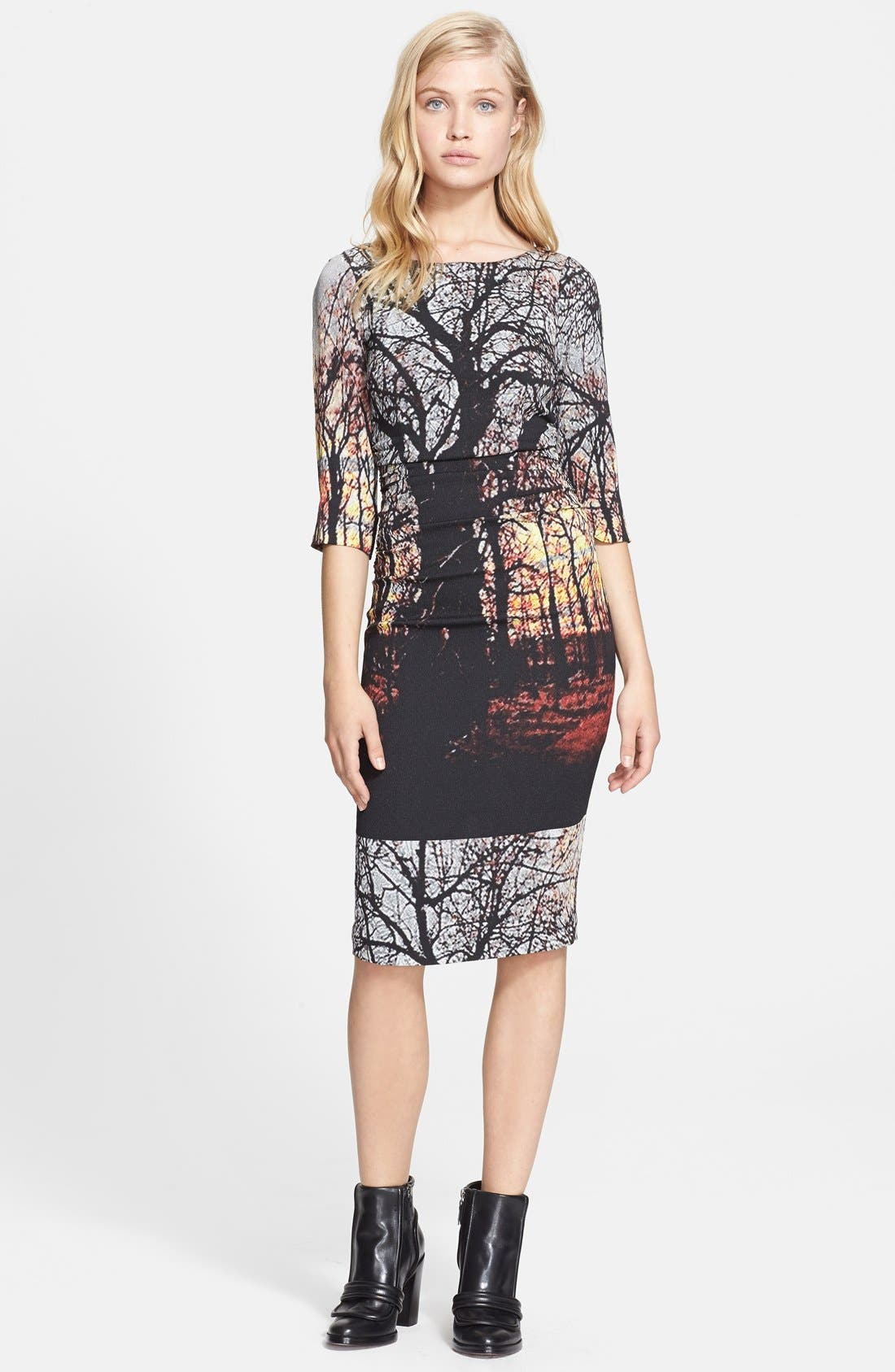 Alternate Image 1 Selected - Tracy Reese Print Stretch Crepe Dress