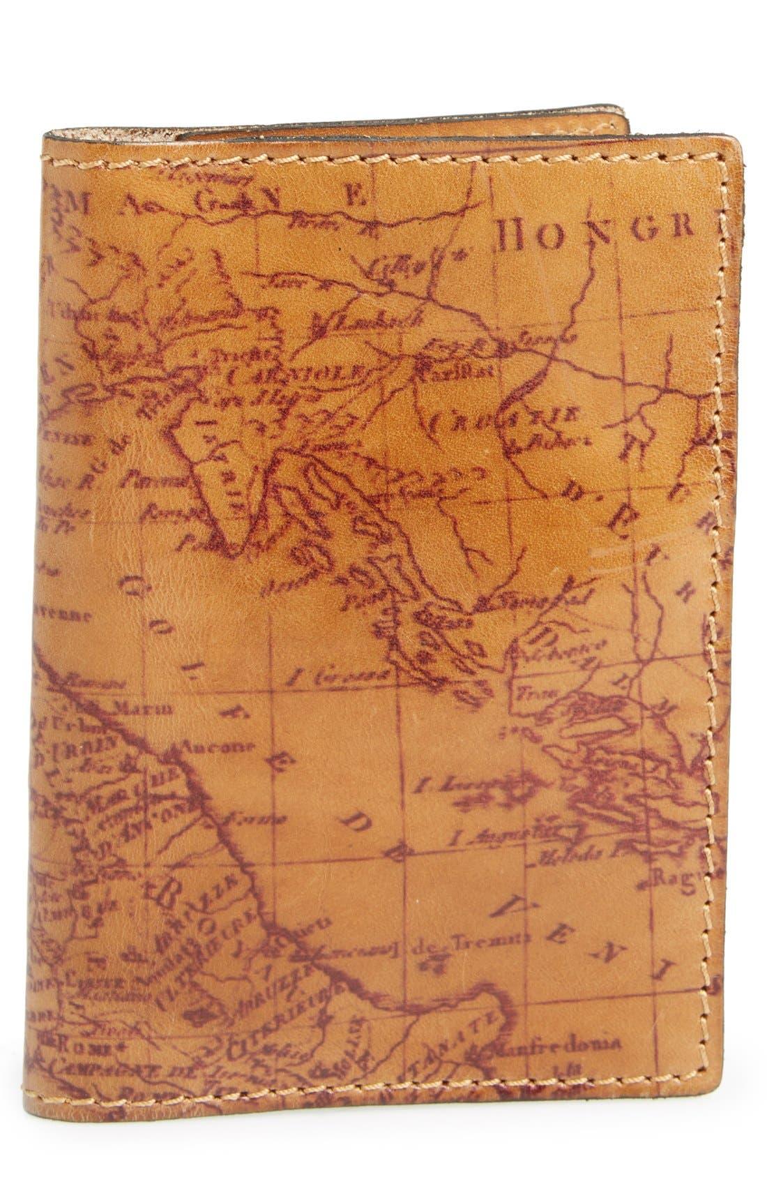 Main Image - Patricia Nash Map Print Leather Passport Holder