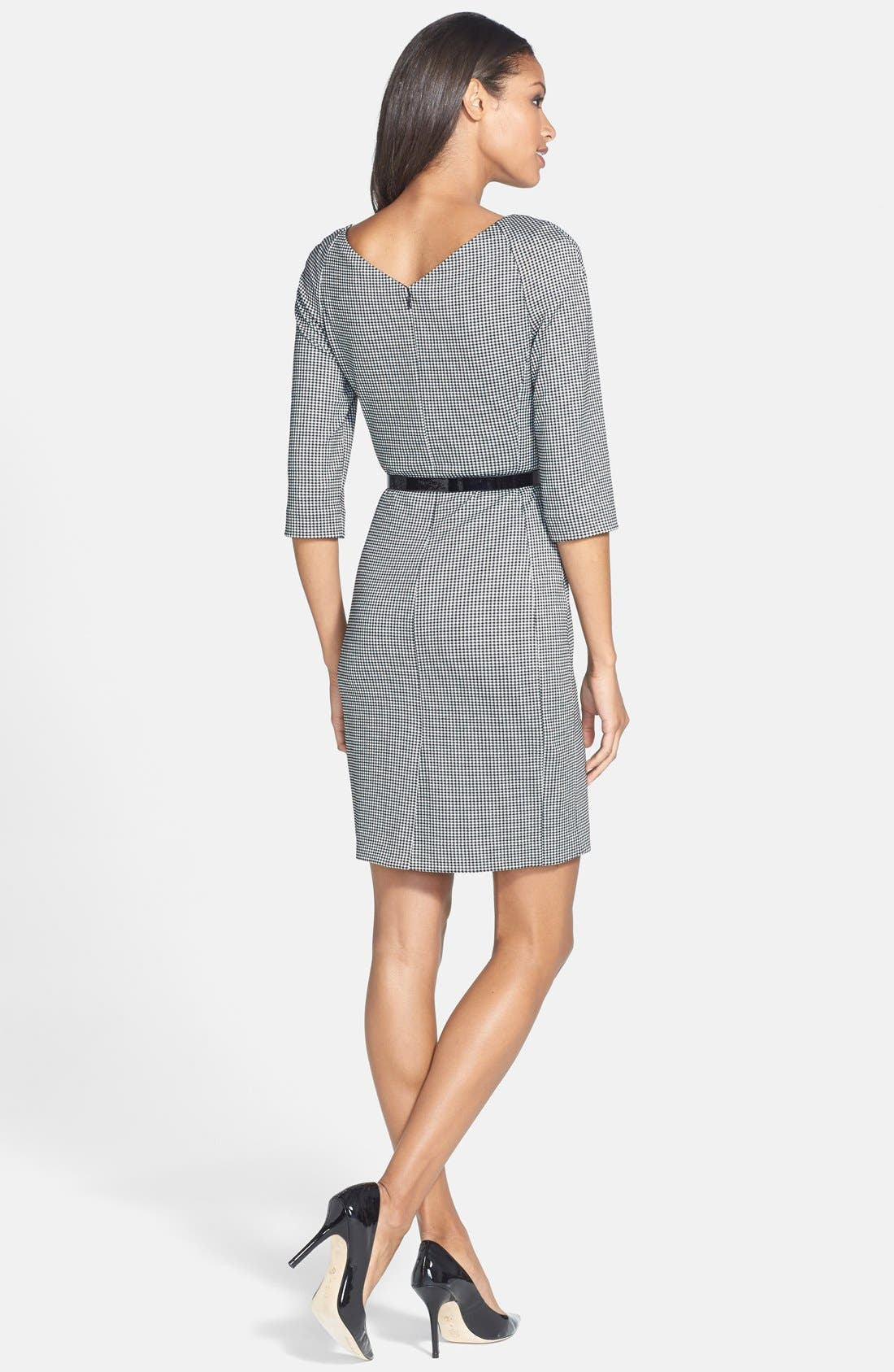 Alternate Image 2  - Anne Klein Gingham Ponte Sheath Dress (Regular & Petite)