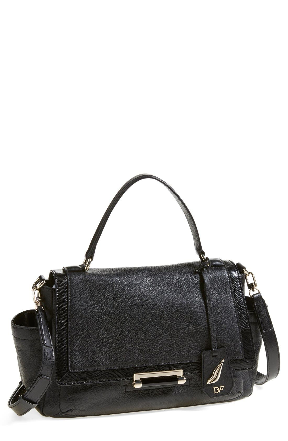 Alternate Image 1 Selected - Diane von Furstenberg '440 Courier' Leather Satchel