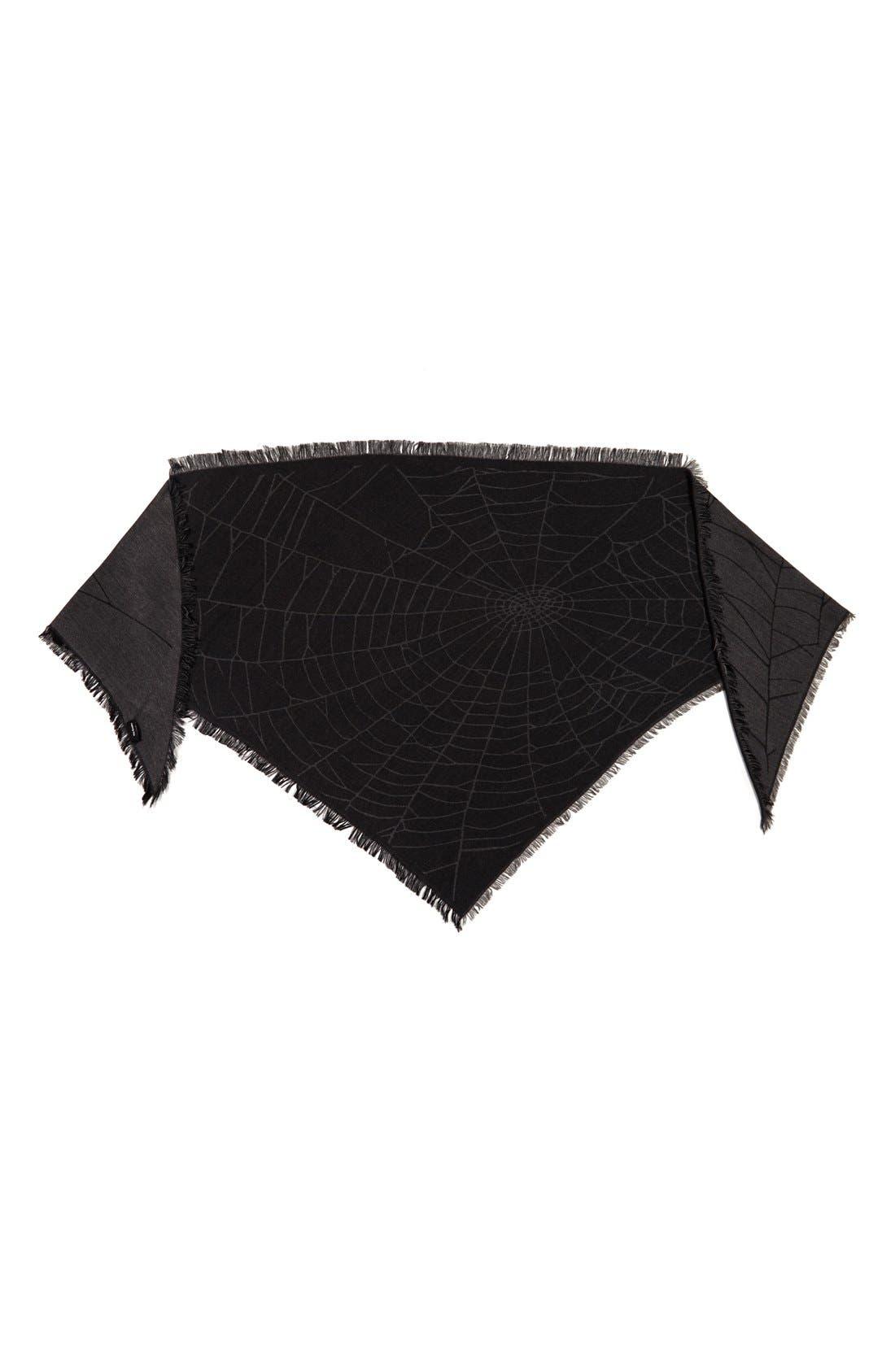 Alternate Image 2  - The Kooples Spider Web Print Triangle Scarf