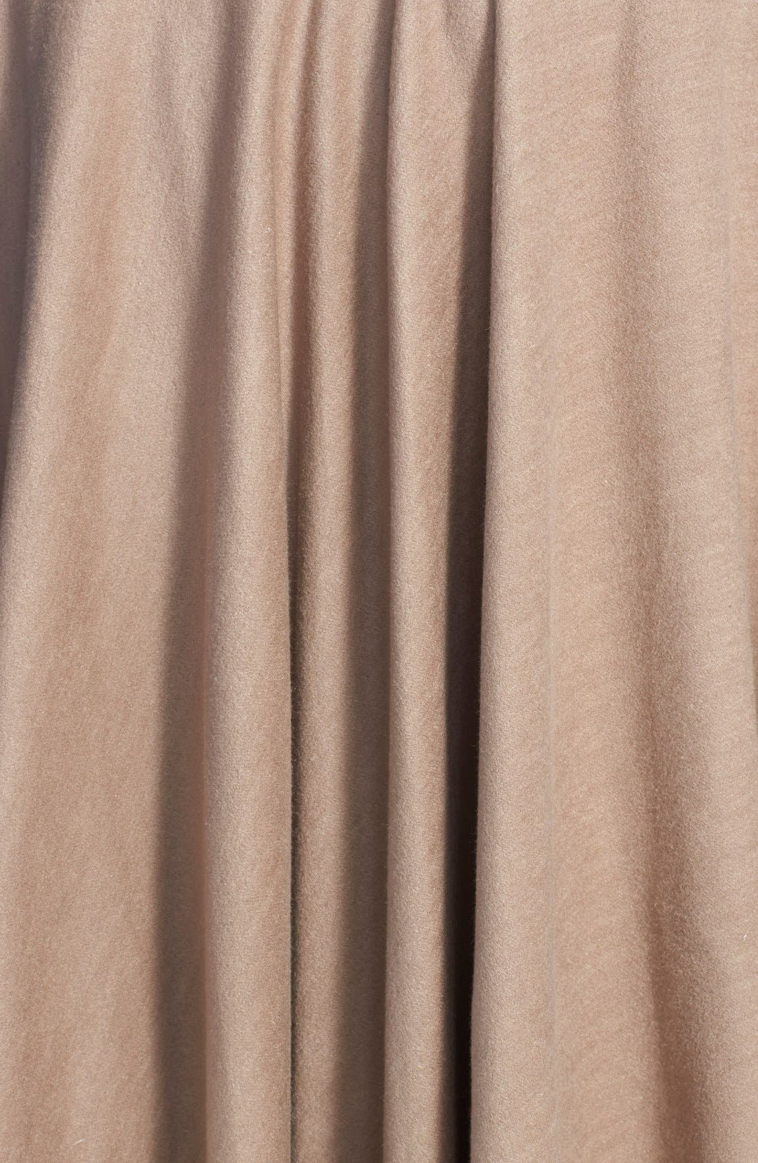 Alternate Image 4  - Chelsey Solid Reversible Silk Cape
