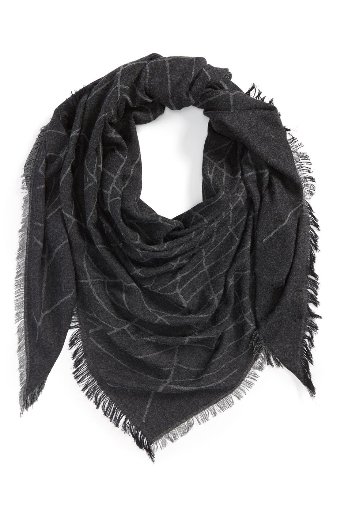 Main Image - The Kooples Spider Web Print Triangle Scarf