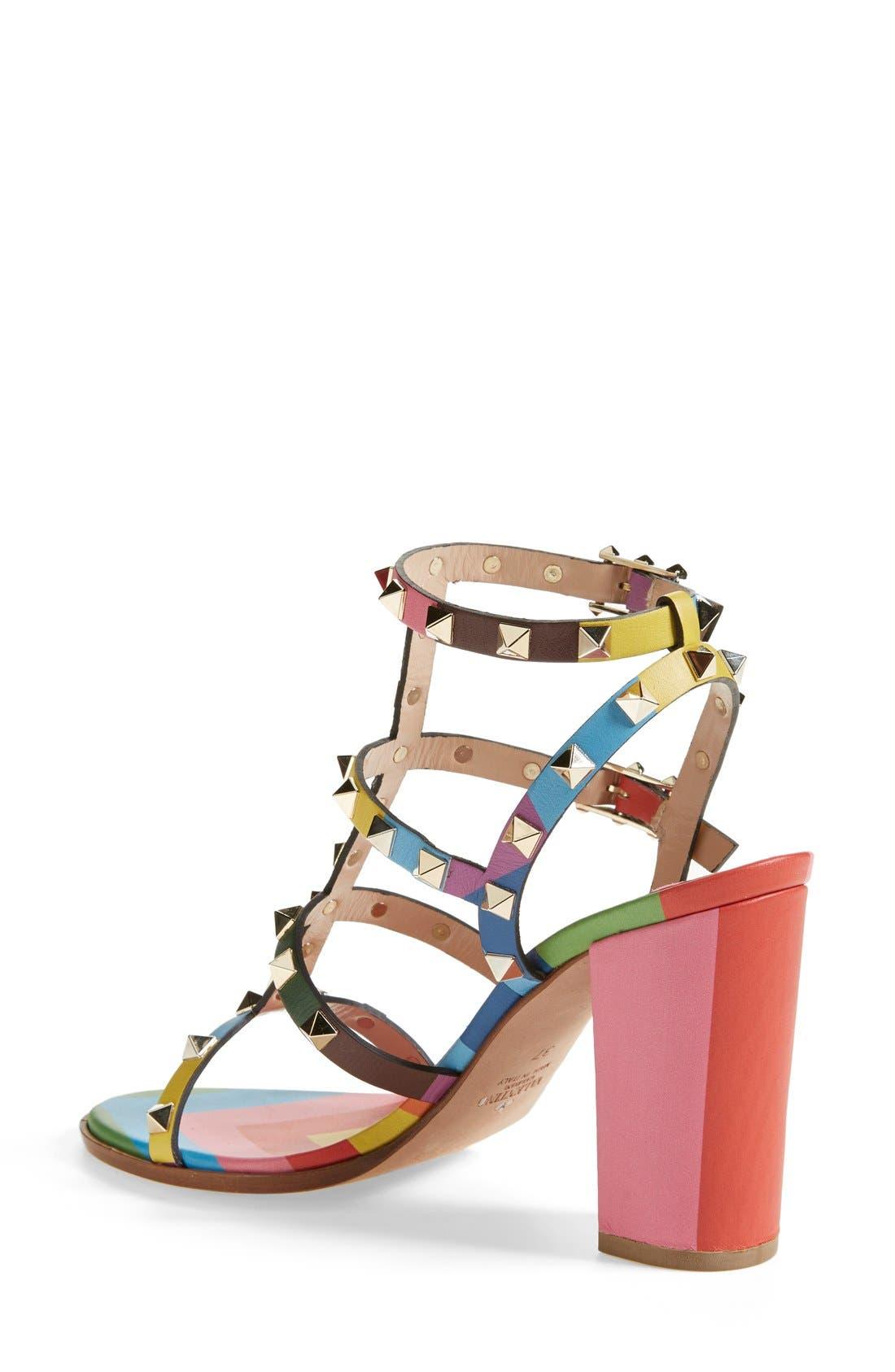 Alternate Image 2  - Valentino 'Rockstud' T-Strap Sandal (Women)