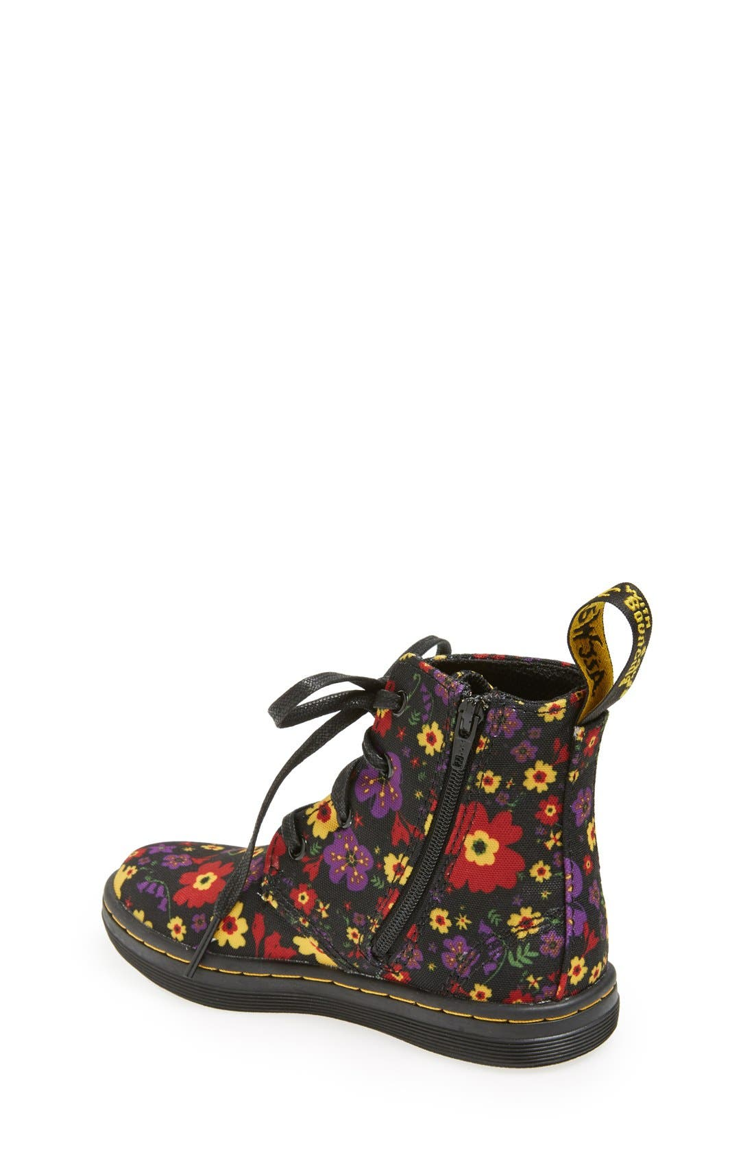 Alternate Image 2  - Dr. Martens 'Laney' Floral Print Canvas Boot (Walker & Toddler)