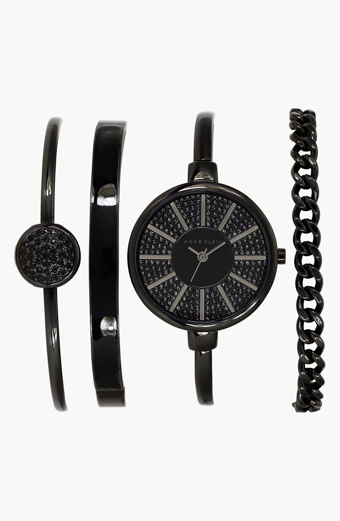 Main Image - Anne Klein Boxed Bracelet & Bangle Watch Set, 32mm