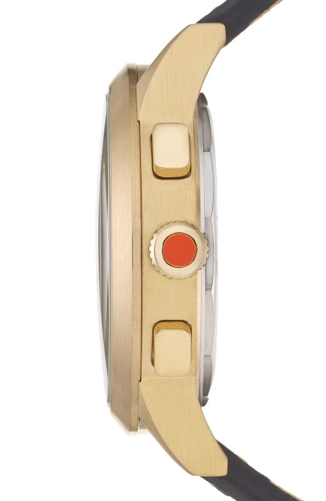 Alternate Image 3  - Jack Spade 'Bailey' Chronograph Leather Strap Watch, 42mm