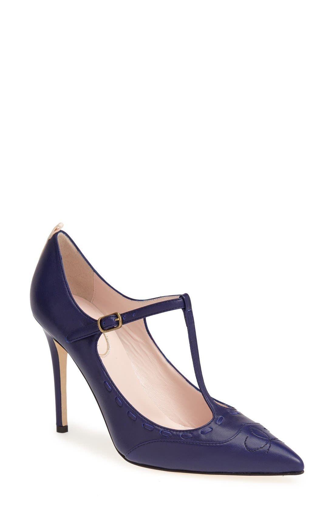 Alternate Image 1 Selected - SJP 'Blythe' Leather T-Strap Mary Jane Pump (Women)