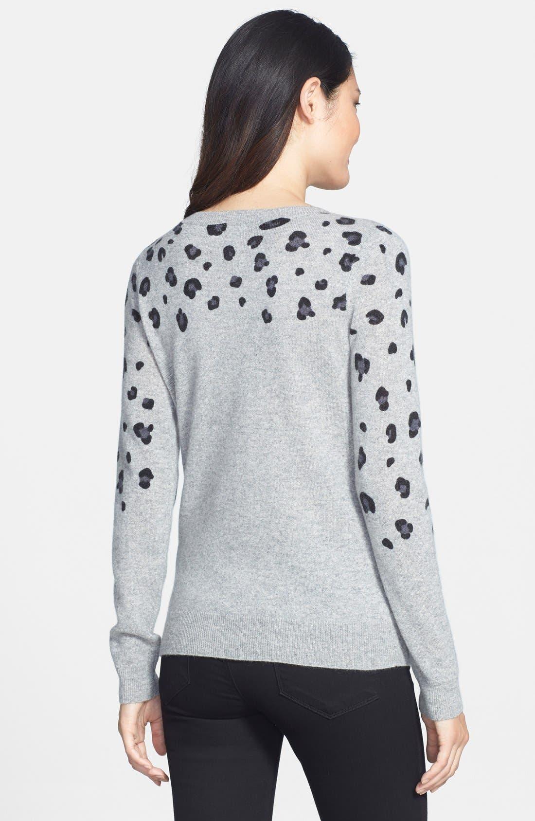 Alternate Image 2  - Halogen® Cashmere Crewneck Sweater (Regular & Petite)