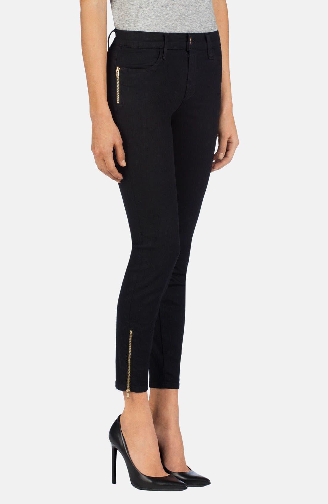 Alternate Image 3  - J Brand Ankle Zip Skinny Jeans (Vanity)