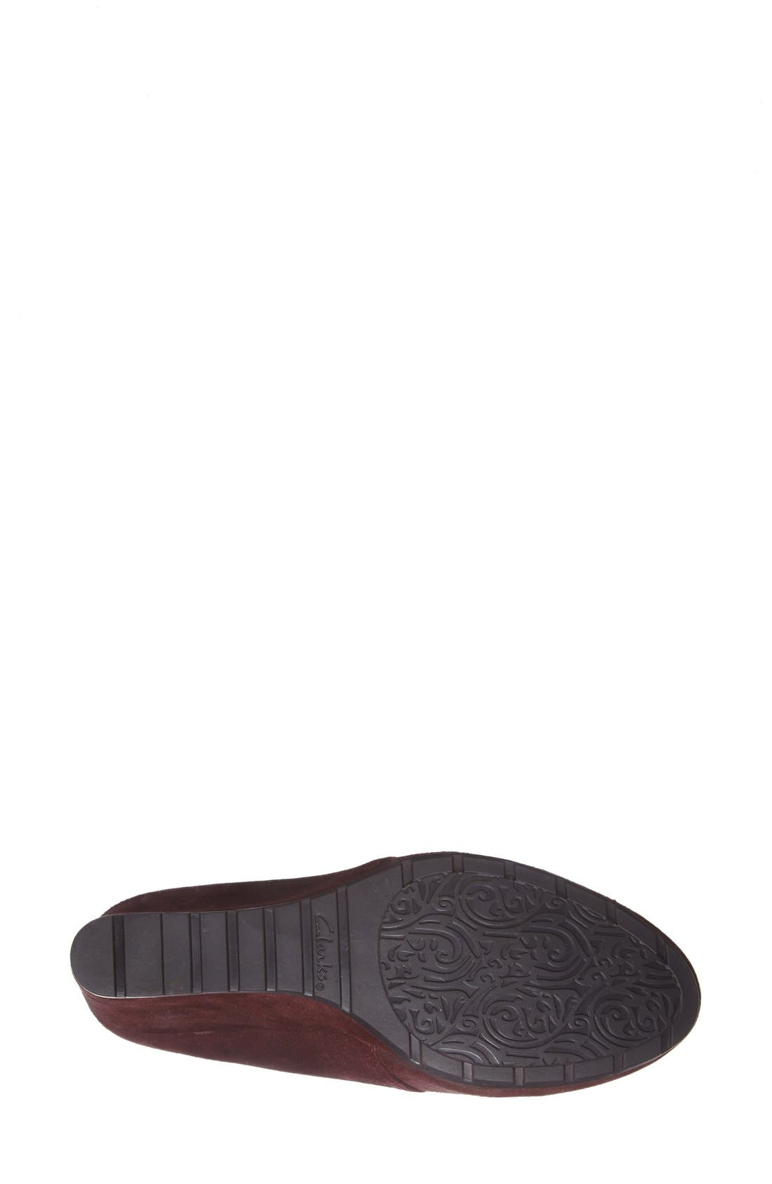 Alternate Image 4  - Clarks® 'Rosepoint Dew' Suede Boot (Women)