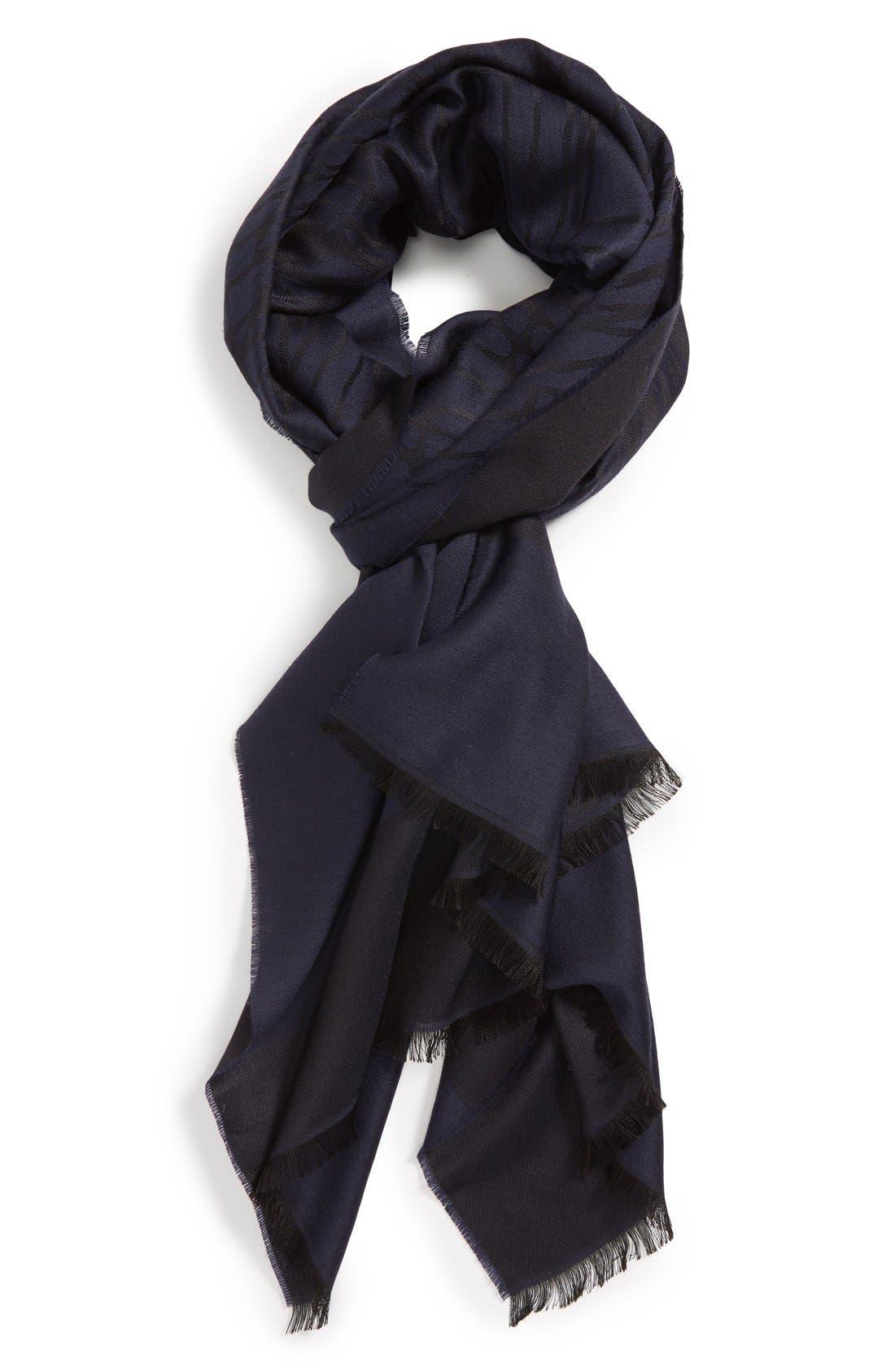 Main Image - Lanvin Print Wool & Silk Scarf