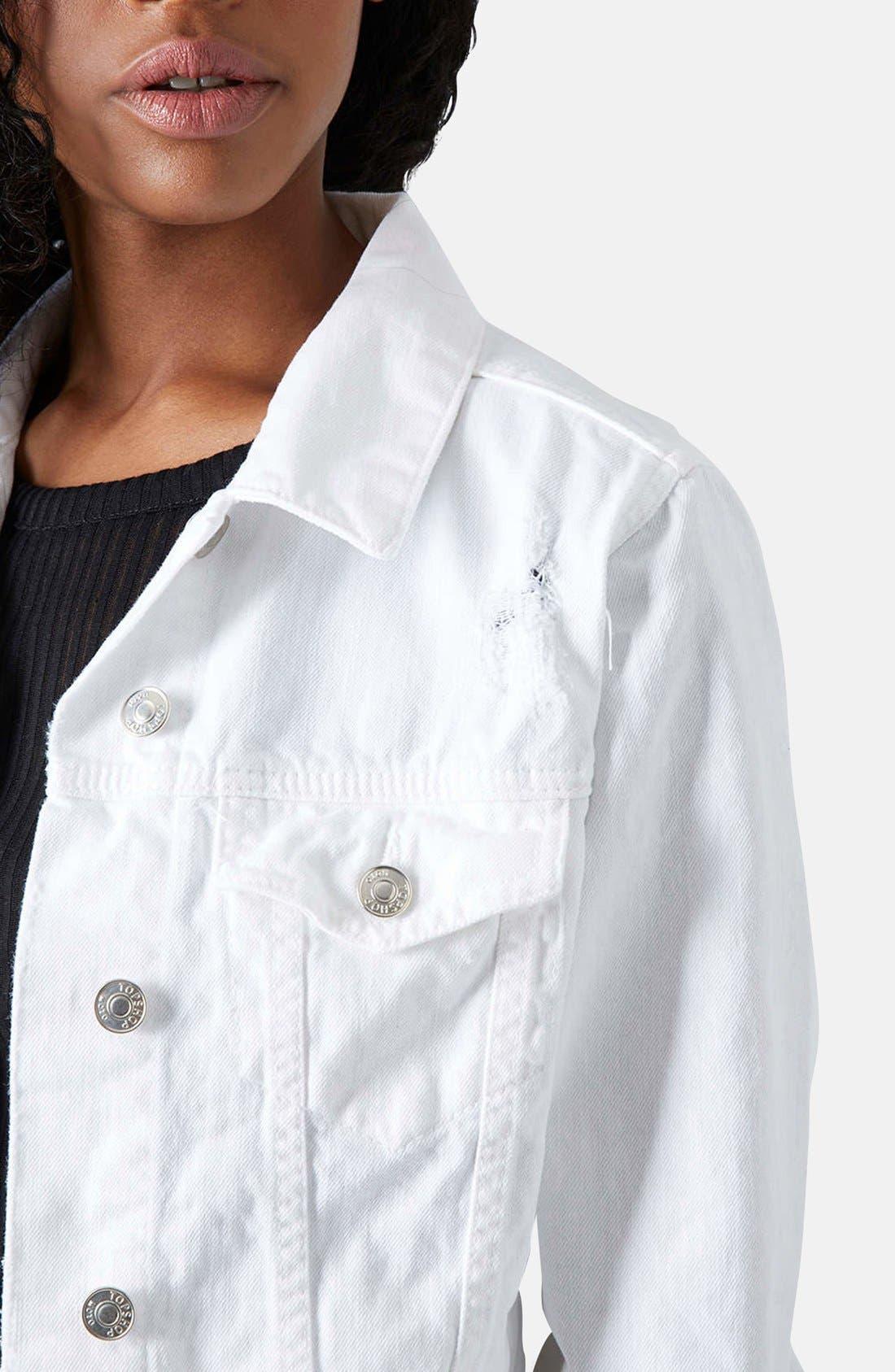 Alternate Image 4  - Topshop 'Tilda' Denim Jacket