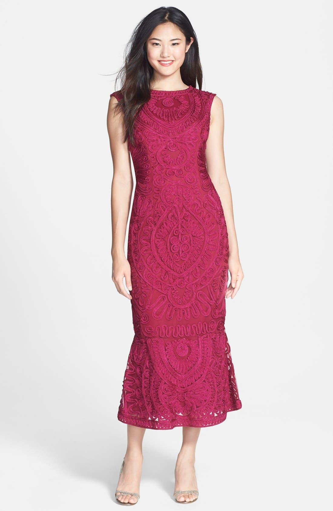 Alternate Image 1 Selected - JS Collections Soutache Mesh Dress