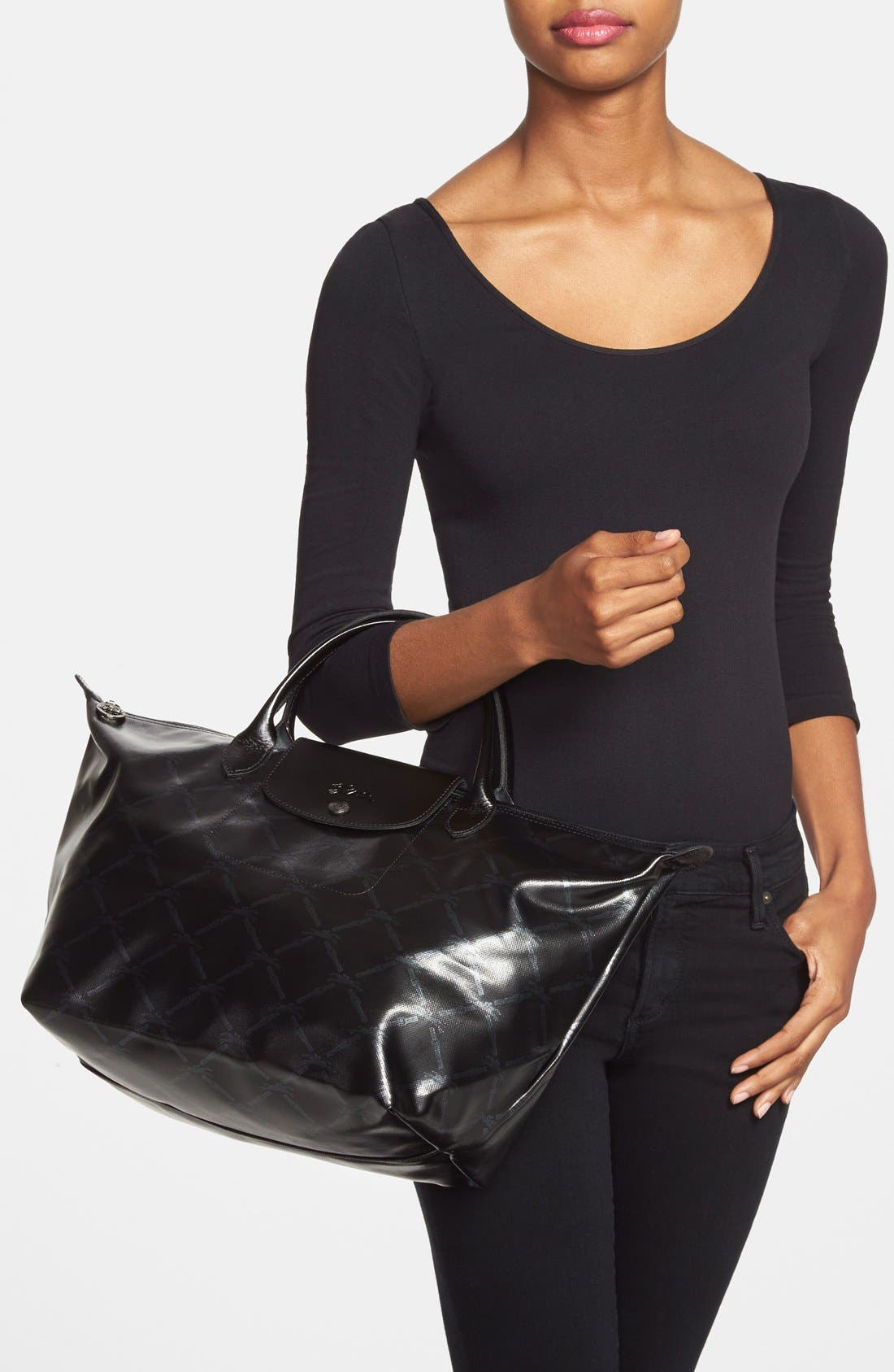 Alternate Image 2  - Longchamp 'LM Metal' Handbag