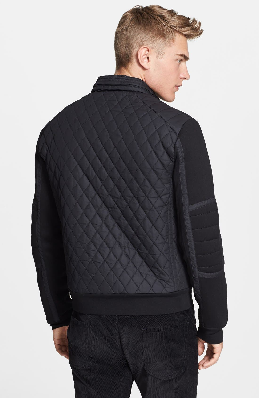 Alternate Image 2  - Ralph Lauren Black Label Quilted Moto Jacket
