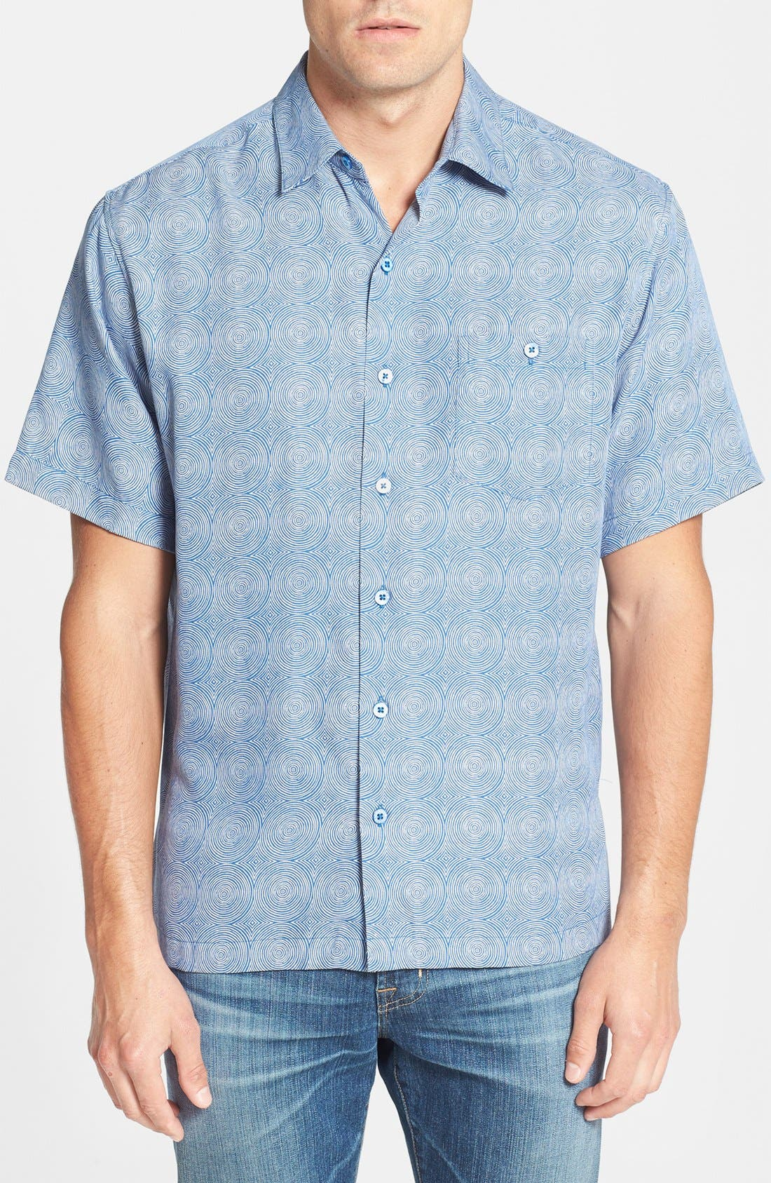 Alternate Image 1 Selected - Tori Richard 'Trance' Classic Fit Short Sleeve Silk Blend Sport Shirt