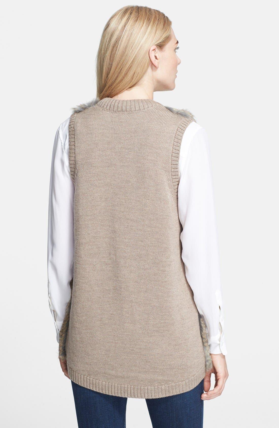 Alternate Image 2  - Joie 'Ellera' Genuine Rabbit Fur Sleeveless Jacket