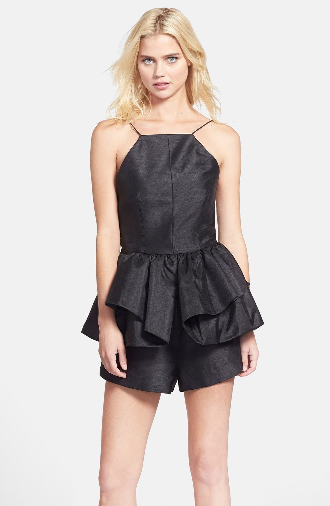 Main Image - C/MEO Collective 'Perfect World' Ruffled Open Back Romper