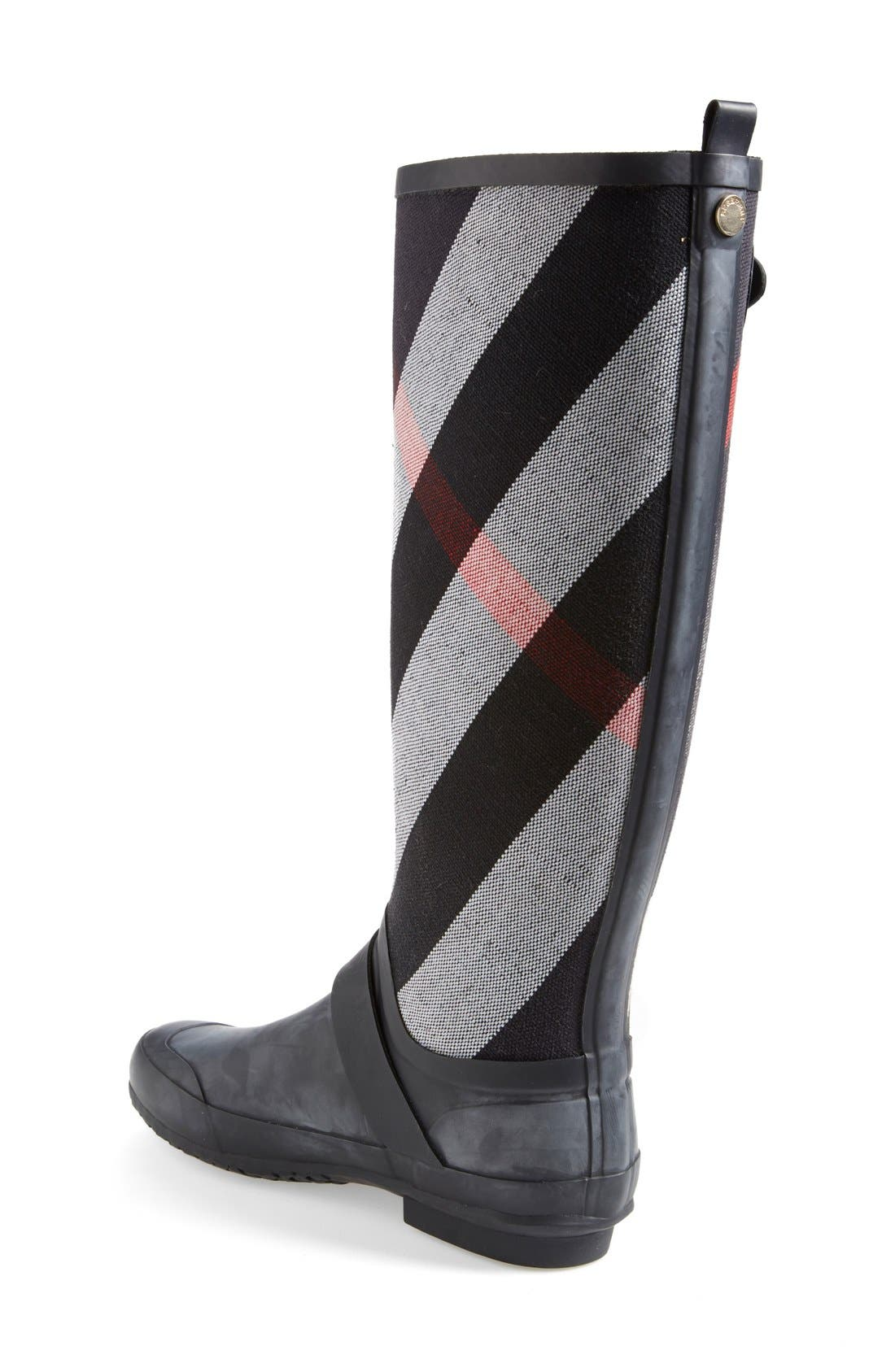 Alternate Image 2  - Burberry 'Birkback' Rain Boot (Women) (Wide Calf)