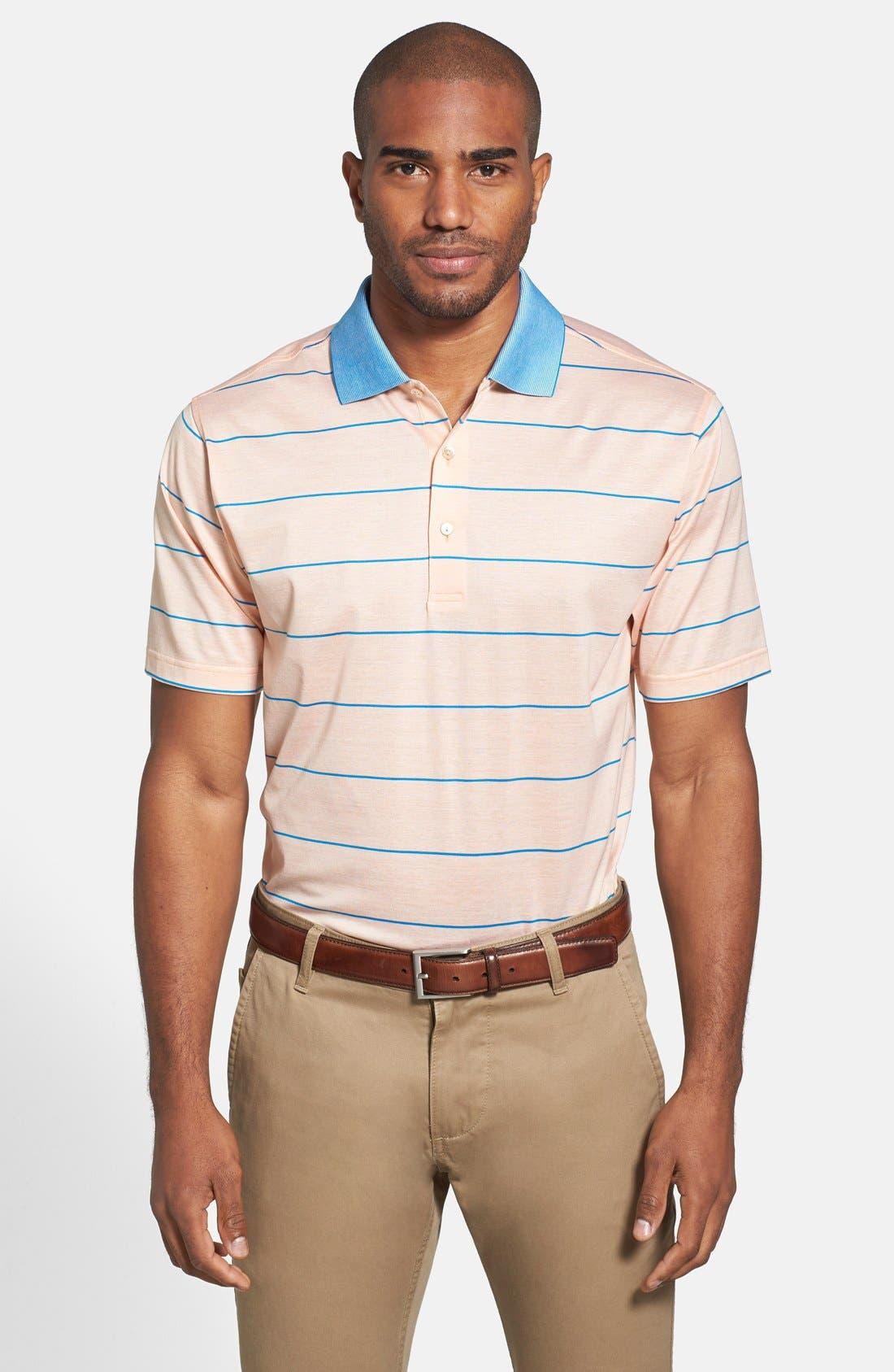 Alternate Image 1 Selected - Peter Millar 'Miami' Stripe Cotton Polo
