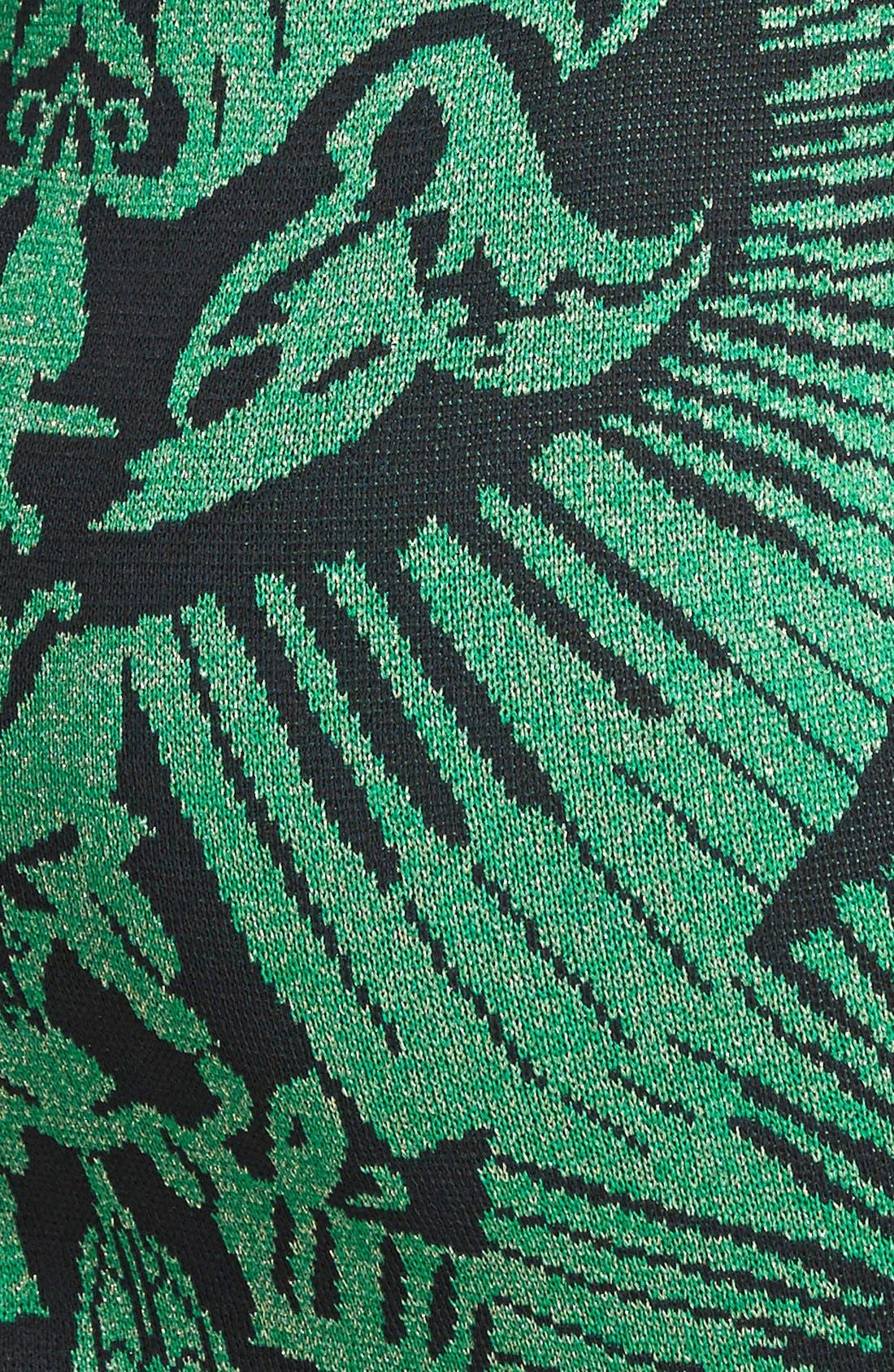 Alternate Image 3  - Ming Wang Jacquard Knit Sheath Dress